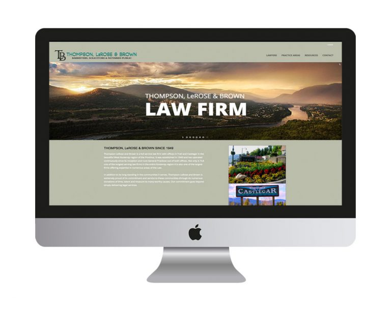 Thompson LeRose & Brown Law Firm website - Designed by HLF Images